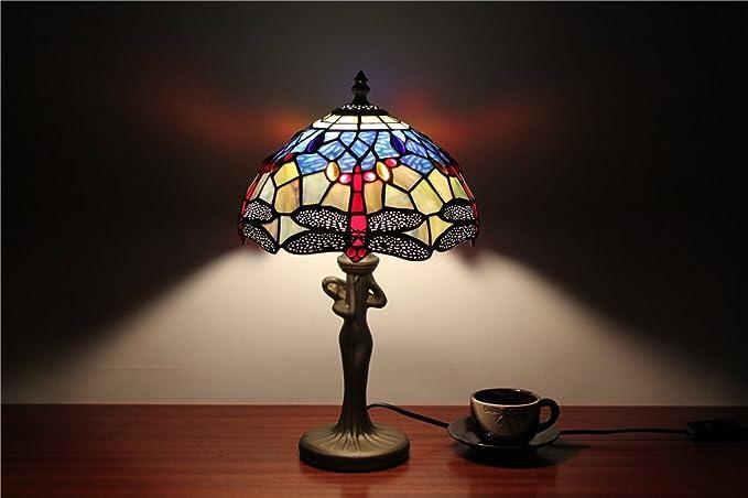 Shopping-lámparas de mesa Tiffany de la libélula de cristal ...
