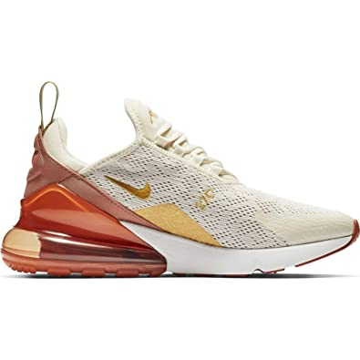 big sale c9407 68505 Nike Women's Air Max 270 Light Cream/Metallic Gold/Terra Blush/Dusty Peach  Mesh Casual Shoes 7.5 M US