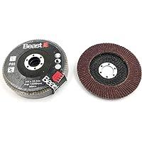 Beast 739538 lamellenslijpschijven, gebogen, diameter 125 mm, 22,23 mm, 80 mm, korund voor hout, metaal