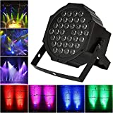 LED Par Lights, Samada LED Stage Lighting 36W RGB by Remote Control DMX 512 Mixing Color Wash Can DJ Club Party Bar Show Live Concert Lighting