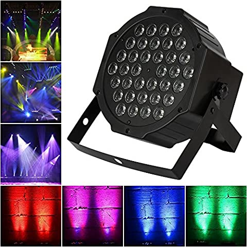 LED Par Lights, Samada LED Stage Lighting 36W RGB by Remote Control DMX 512 Mixing Color Wash Can DJ Club Party Bar Show Live Concert - Stage Lighting Package