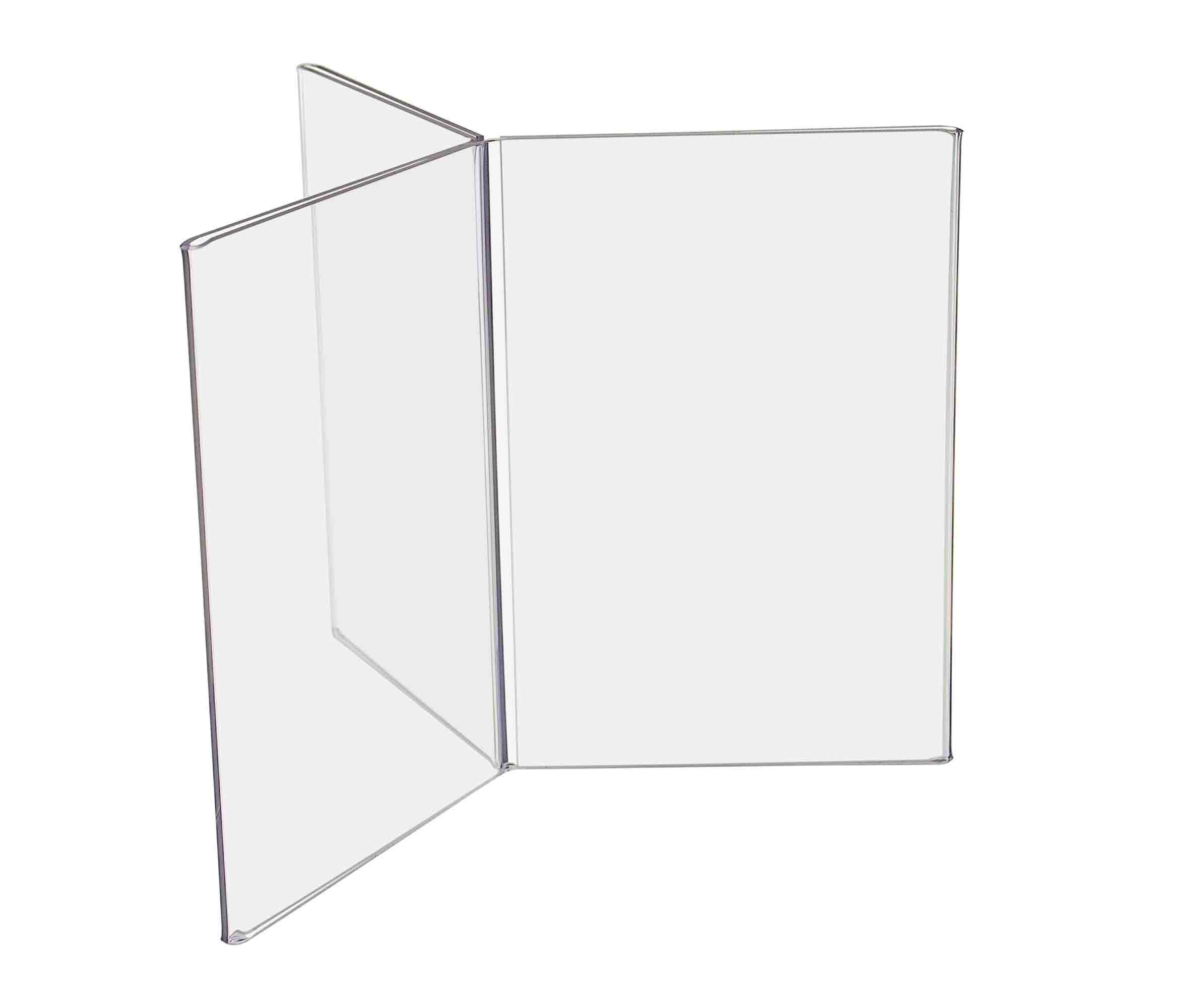 Marketing Holders 4''w x 6''h Six Sided Frame Counter Top Ad Print Menu Holder Wholesale Premium Easy Load Pack of 12