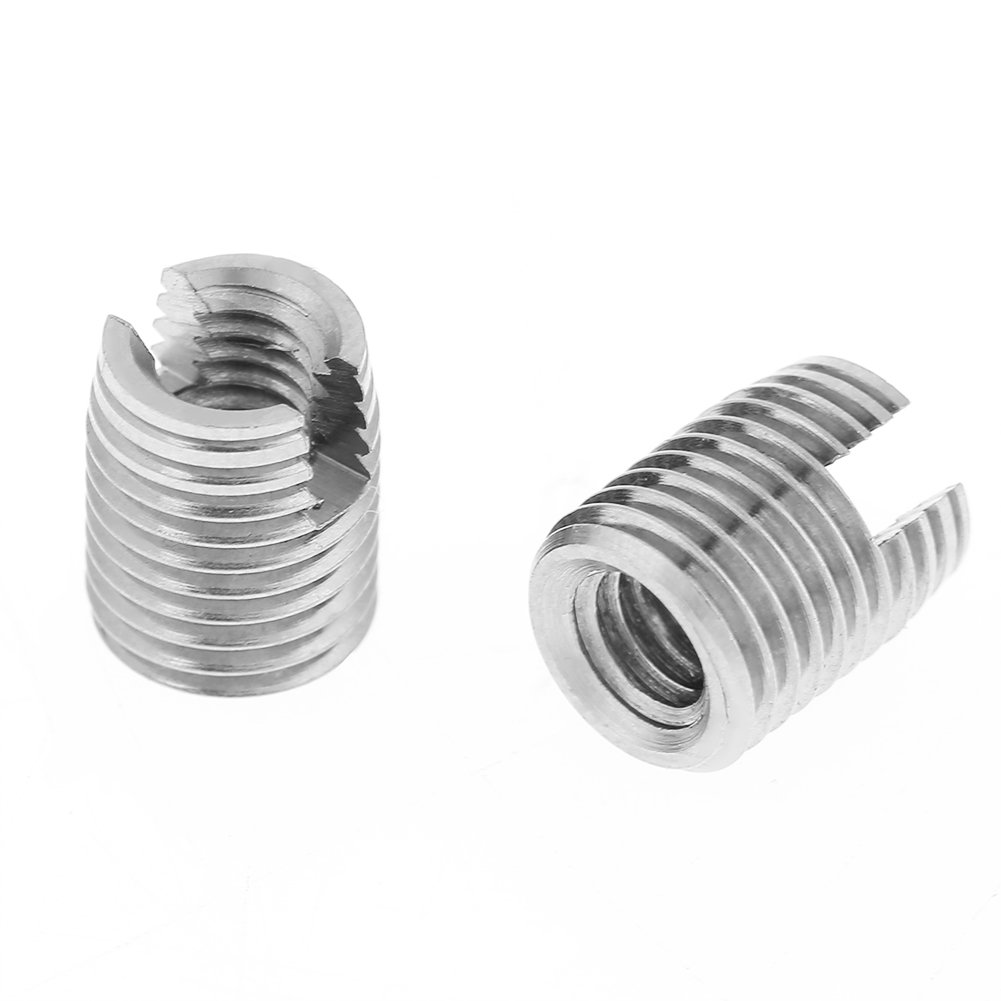 20pcs Metal Self Tapping Slotted Screw Thread Insert Helical Repair Insert M4 x 8mm Set