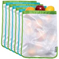 ChicoBag, Reusable Mesh Produce Bag, Bachelor Button and Greenery, Pack of 6