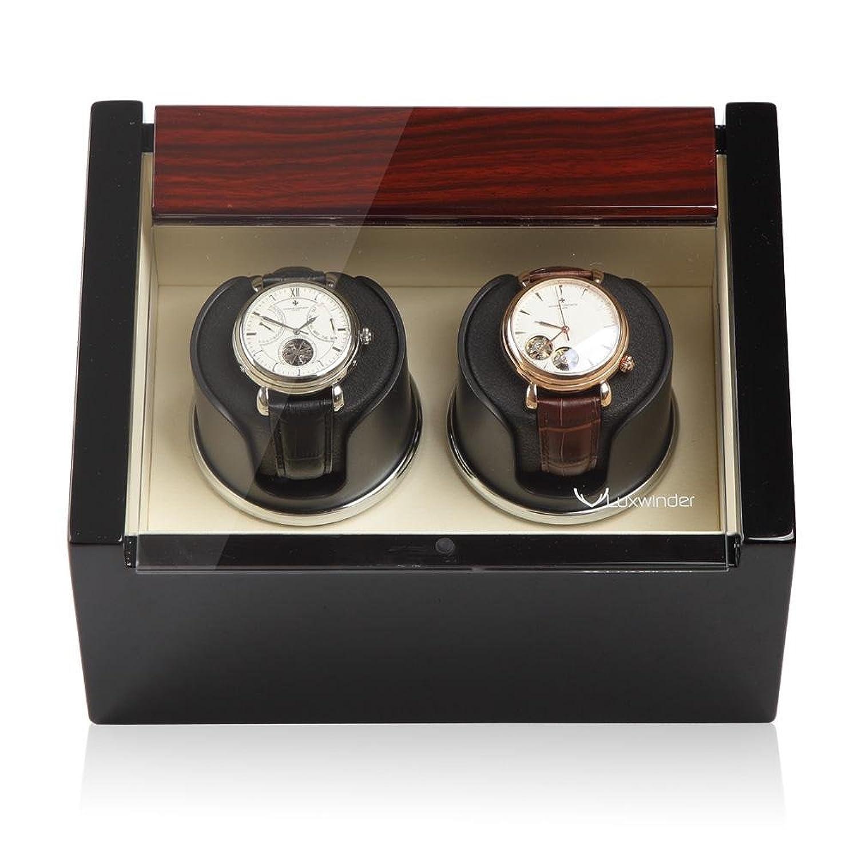 Luxwinder Unisex ZubehÖr Uhrenbeweger fÜr 2 Automatikuhren makassar powered by Modalo verschiedene Materialien mehrfarbig