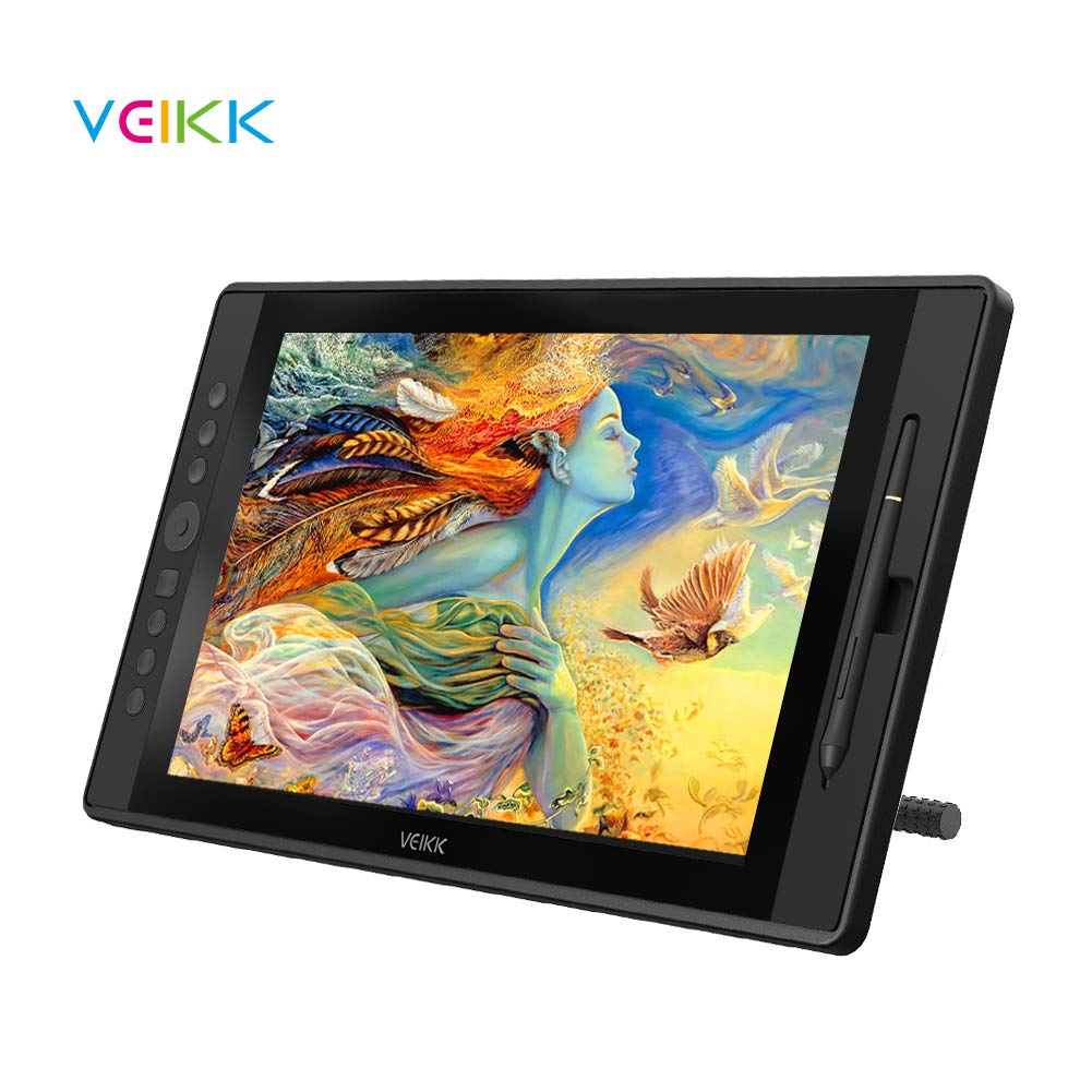 Drawing Monitor Tablet, Veikk Vk1560 Drawing Tablet With Screen Full Hd Ips Pen Display Graphic Monitor With Battery Free Passive Stylus (8192 Level Pressure, 92% Ntsc) by Veikk
