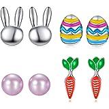 6383 Rainbow Colored Easter Egg Earrings