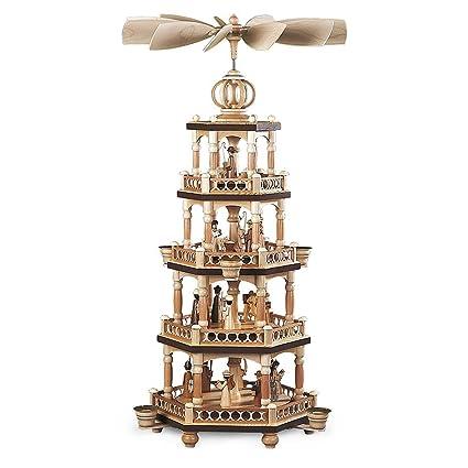 german christmas pyramid christmas story 4 tier height 65 cm 26 inch