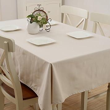 LU Süßigkeit-Farben-Baumwollhaushalt-Stab-Tischdecke-Staub-Persenning-Tuch-rechteckige Tischdecke ( farbe : Weiß , größe : 60