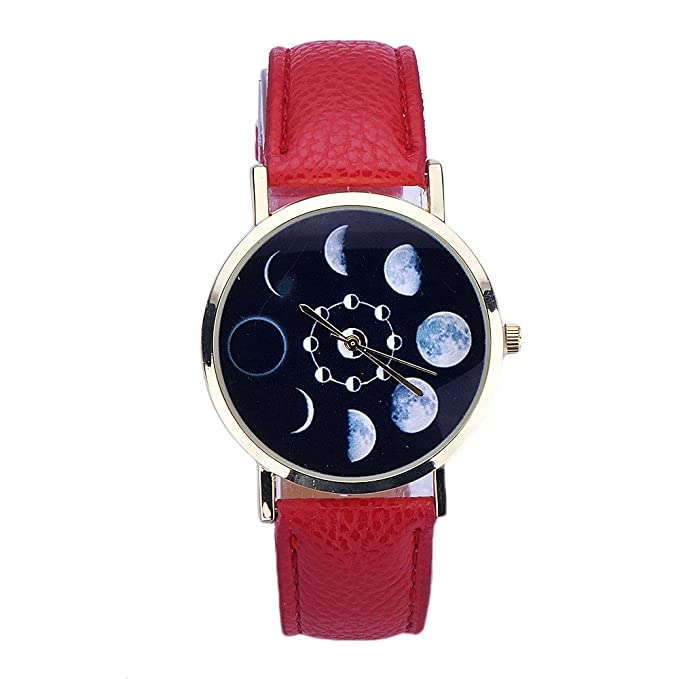 Coconano Relojes Mujer Baratos, Reloj Análogo de Cuarzo Analógico de Cuero Con Patrón de Eclipse Lunar Para Mujer: Amazon.es: Ropa y accesorios