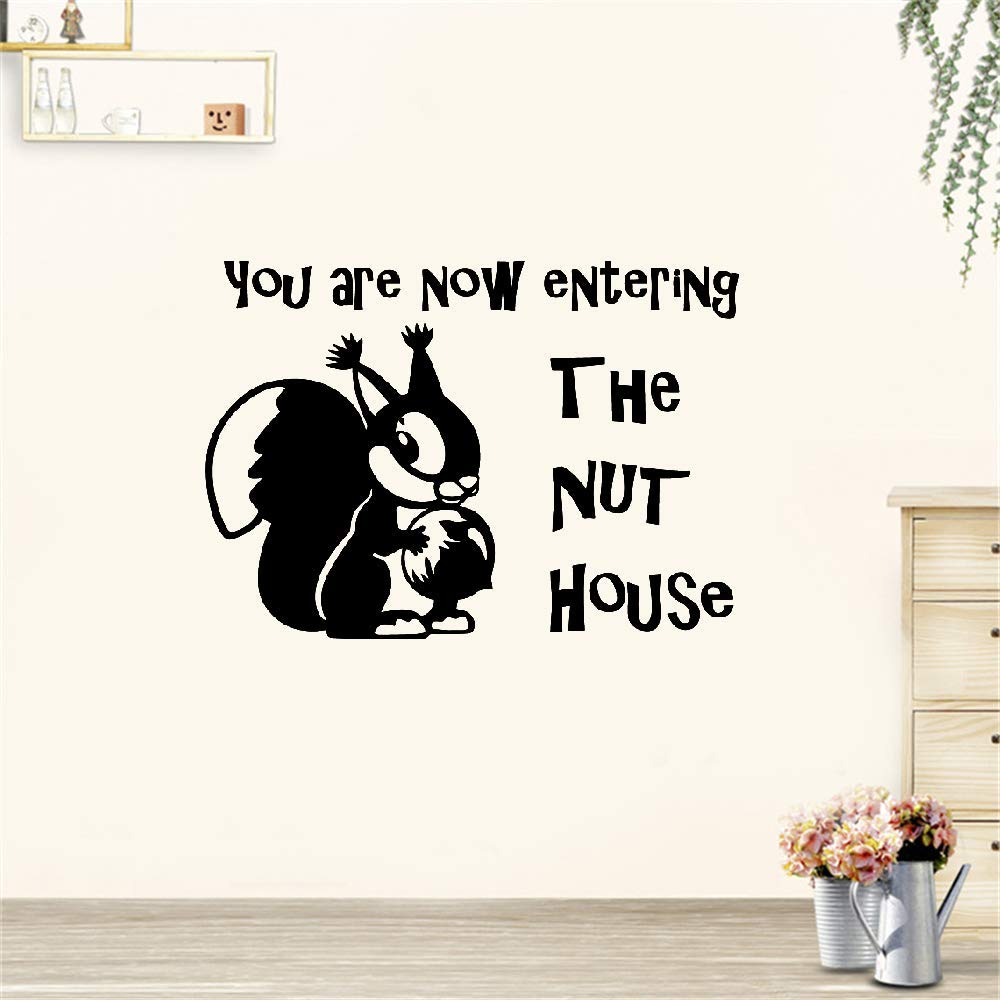 Kerta Peel and Stick Removable Wall Stickers You are Now Entering The Nut House for Living Room