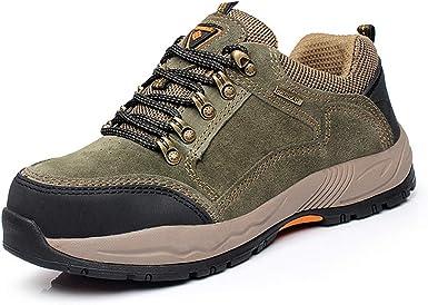 Hombre Zapatillas de Seguridad con Puntera de Acero Ligeras S1P Calzado de Trabajo, Zapatos de Trabajo con Punta de Acero Ultra Liviano Suave y cómodo Transpirable: Amazon.es: Zapatos y complementos