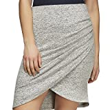 Joe Fresh Women's Active Wrap Skirt, L, Grey Melange