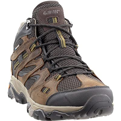 Hi-Tec Mens Ravus Vent Lux Mid Waterproof Hiking Boot, Adult, Chocolate/Dull Gold, 9 M US | Hiking Boots