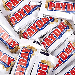PayDay Snack Size Candy Bars 11.6oz Bag (approx 16 pcs), 2 Pack