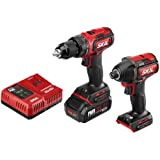 SKIL 2-Tool Kit: PWRCore 20 Brushless 20V Cordless Drill Driver and 1/4 Inch Hex Impact Driver, Includes 2.0Ah Lithium Batter