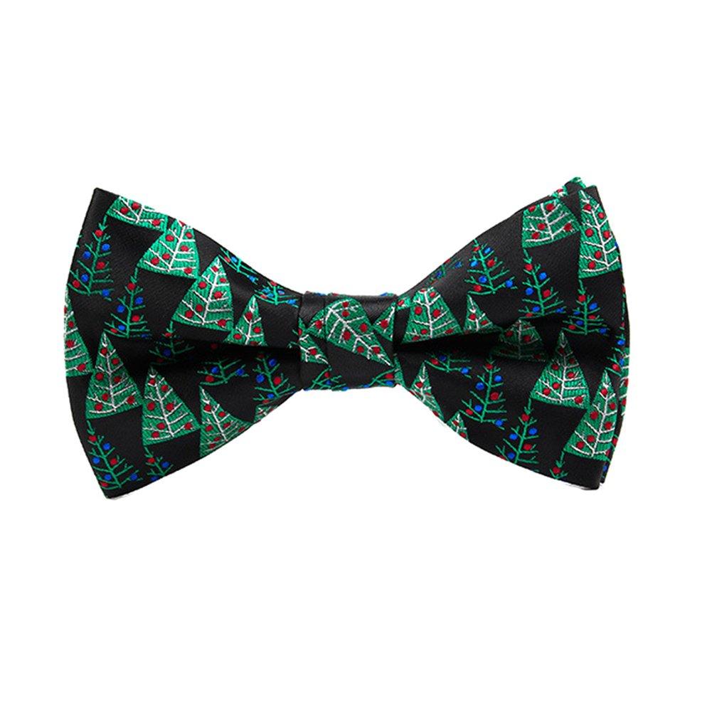 ofvsdhftgj Fashion Christmas Bow Tie Unisex Children Festival Adjustable Snowflake Necktie