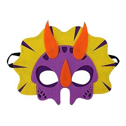 Leegoal Máscaras de Dinosaurio para Niños con Cuerda Elástica, Suministros de Fiesta Cosplay, Máscaras