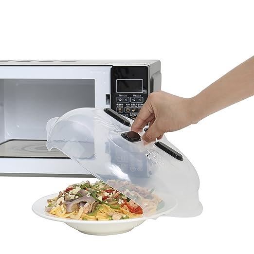 Tapa antisalpicaduras de microondas con protector magnético y ...