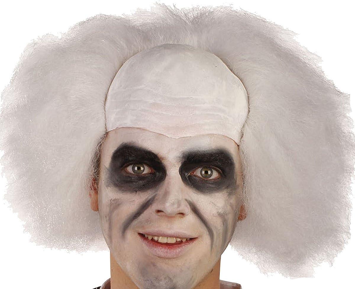 Mens Fancy Halloween Dress Party Crazy Guy Beetlejuice Bald Head Artificial Wig Amazon Ca Clothing Accessories