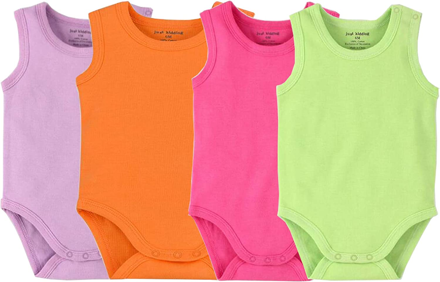 Infant//Toddler Baby Girls Boys Sleeveless Onesies Tank Top Cotton Baby Bodysuit Pack of Summer Baby Clothes Outfit