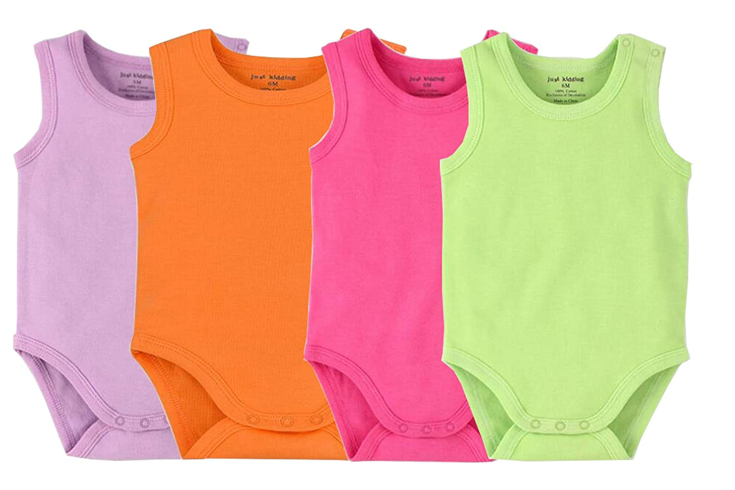f90eb80b5 Amazon.com: Infant/Toddler Baby Girls Boys Sleeveless Onesies Tank Top  Cotton Baby Bodysuit Pack of Summer Baby Clothes Outfit: Clothing