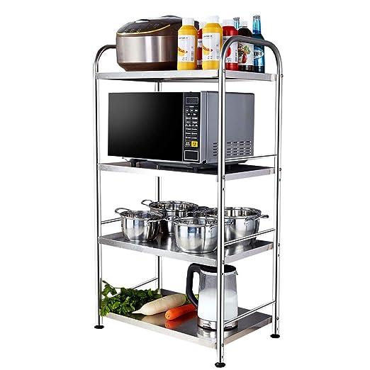 Amazon.com: Estantería de acero inoxidable para cocina, 4 ...