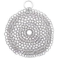 Alced 316 rostfritt stål grytborste med hängande ring, premium Chainmail skrubbare för gjutjärnspanna kök rengöring…
