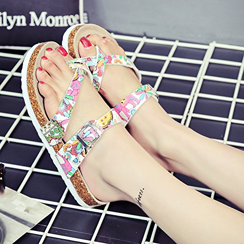 Mujer Planos Unisexo Zapatos de la playa Cómodos Sandalia Zapatos Planos sandalias del dedo del pie del clip Flor