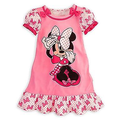 Amazon.com: Disney Minnie Mouse Pink Nightshirt Nightgown Pajamas ...