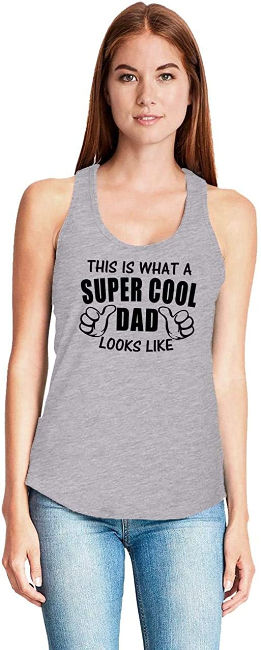 Comical Shirt Ladies This is What Dad Looks Like Funny Racerback