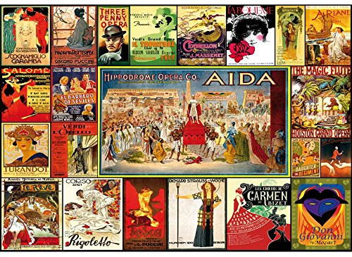 Wentworth Vintage Opera Posters 250 Piece Wooden Lewis T. Johnson Jigsaw - Wood Piece 250