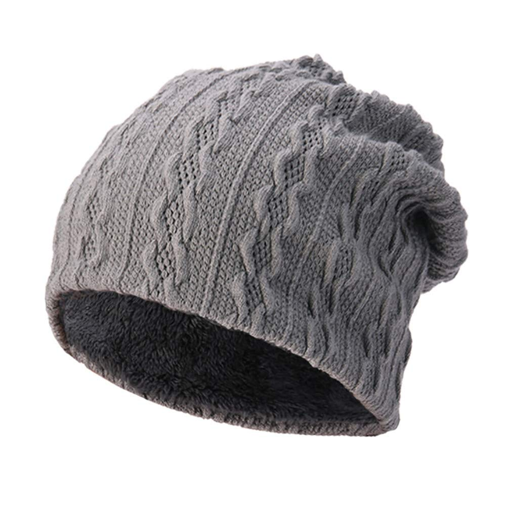 BSGSH Unisex Soft Slouchy Beanie Pentagram Printed/Solid Winter Comfortbale Ski Baggy Hat for Men Women (Gray B) by BSGSH (Image #1)