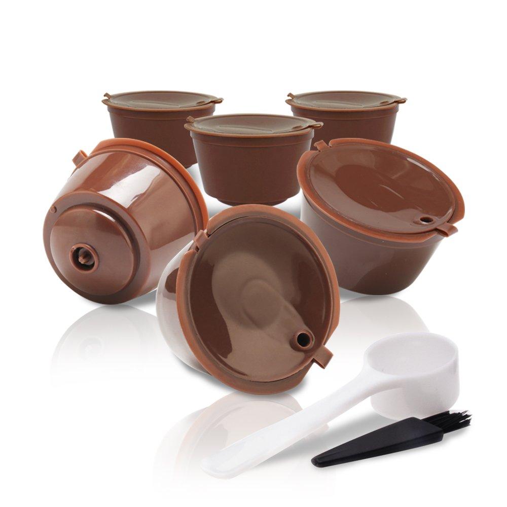 MG Coffee Refillable Dolce Gustó Coffee Capsule, 3rd Generation Reusable Holder Pod Compatible with Mini Me, Genio, Piccolo, Esperta and Circolo (6 PCS)