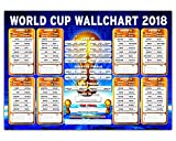 #10: Russia World Cup Wall Chart 2018 - Premium Quality Poster 23in x 16.5in Soccer Wallchart