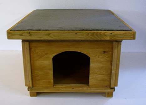 Caseta de gato para exterior, con suelo aislante: Amazon.es ...
