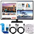 """LG 43UD79-B 43"""" 4K Ultra HD IPS LED Monitor w/ Accessories Bundle Includes, SurgePro 6-Outlet Surge Adapter w/ Night Light, 2x 6ft High Speed HDMI Cable & Universal Screen Cleaner for LED TVs"""