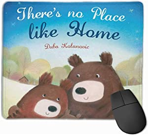 No Place Like HomeMouse Pad with Stitched Edge, Premium-Textured Mouse Mat, Non-Slip Rubber Base Mousepad for Laptop, Computer & PC,25×30 cm