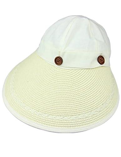Menschwear mujer Hats Summer Sun hats Canvas UV Protection Caps Creme