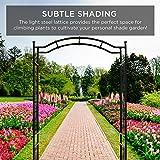 Best Choice Products 92in Steel Garden Arch Arbor
