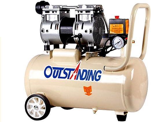 compresor de Aire silencioso Bomba de Aire sin Aceite carpintería Aire 800w-30L: Amazon.es: Hogar
