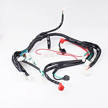 amazon com chinese atv utv quad 4 wheeler electrics wiring harness Quad Drum Harness amazon com chinese atv utv quad 4 wheeler electrics wiring harness 50cc 70cc 90cc 110cc automotive