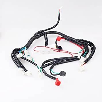 amazon com chinese atv utv quad 4 wheeler electrics wiring on Eton ATV Wiring Diagram for chinese atv utv quad 4 wheeler electrics wiring harness 50cc 70cc 90cc 110cc at Eton Viper 50 Parts Diagram