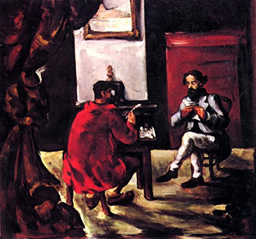 The Museum Outlet - Paul Alexis reads before Zola by Cezanne - Canvas Print Online Buy (30 X 40 Inch)