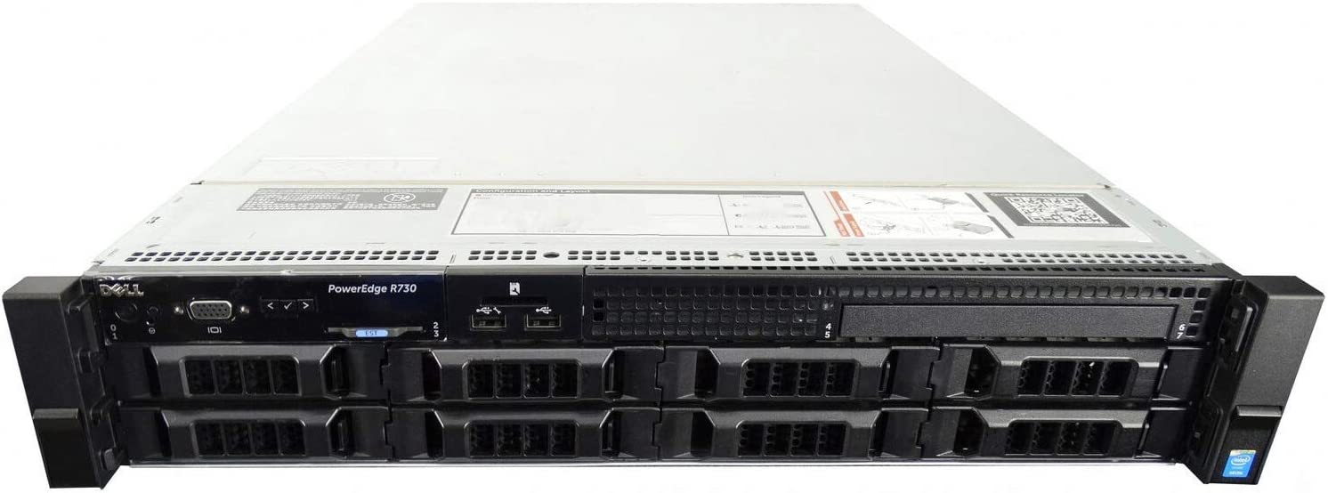 Dell PowerEdge R730 8 Bay LFF 2U Server, 2X E5-2667 V4 3.2GHz 8 Core, 64GB DDR4, 8X 3TB 7.2K SATA 6Gbps 3.5 Drives (Renewed)