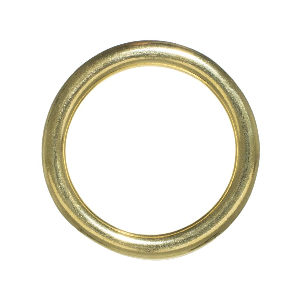 Craft County Brass O-Rings – Inside Diameter Size Options (1/2, 3/4, 1, 1 1/4, 1 1/2 or 2 inches) – Packs of 2, 5, 10, 15, 25, 50 or 100