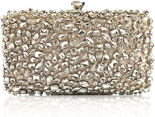 Ladies Bling Purse Chain Handbag Bridal Shoulder Evening Bag Clutch Champagne