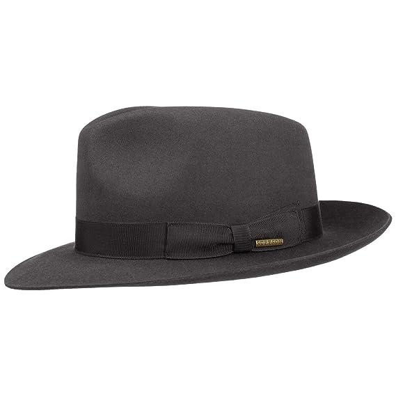 Stetson Penn Bogart Hat fur felt hat Bogart hat (63 cm - grey ... f7ebe631701