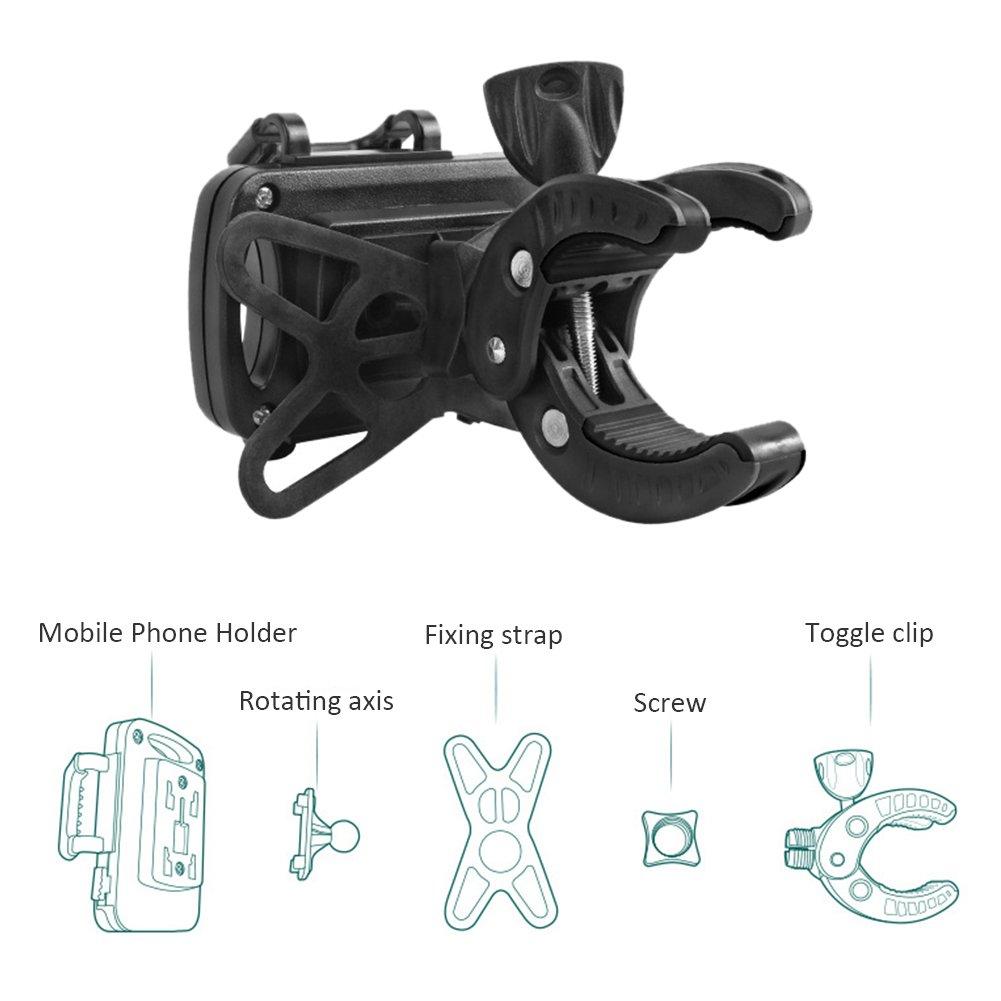Universale Kinderwagentasche Handy Haltermit,360 Grad Einstellbar Kinderwagen Allgemeine Zubeh/ör Kinderwagen Handy Halter