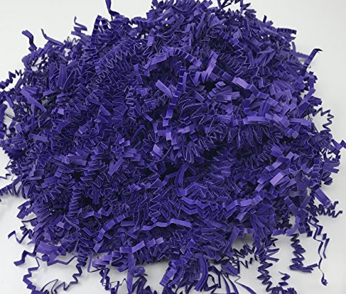 Purple 1LB - Crinkle Cut Paper Shred Filler for Gift Wrapping & Basket Filling | Colors of Rainbow by Momoka's Apron